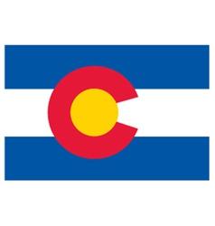 Colorado flag vector image vector image
