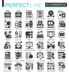 e-commerce and shopping black mini concept vector image vector image