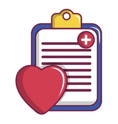 medical health card icon cartoon style vector image vector image