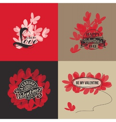 Valentines day cards with butterflies vector image