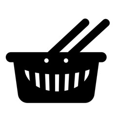 cart shop icon simple black style vector image