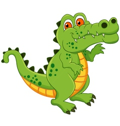 crocodile cartoon isolated vector image