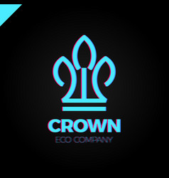 eco nature green leaves crown logo vector image vector image