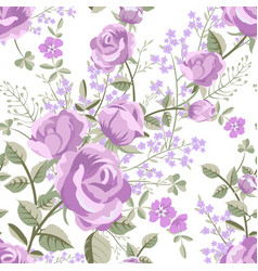 floral pattern with roses vector image vector image