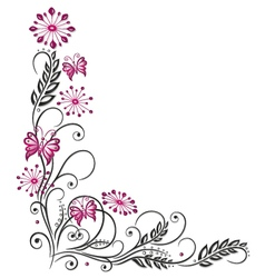 Flowers floral element vector image