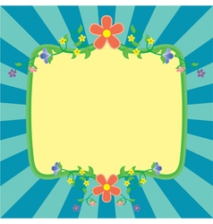 flowers frame spring vector image vector image