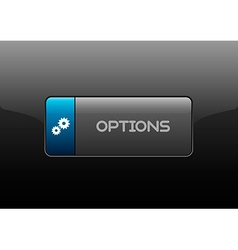 Options Button vector image