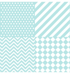 Seamless baby boy pattern vector