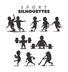 sport silhouettes on white background vector image vector image