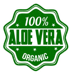 100 aloe vera stamp vector image