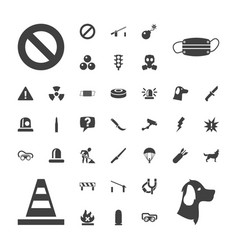 37 danger icons vector
