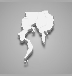 3d isometric map davao is a region of vector