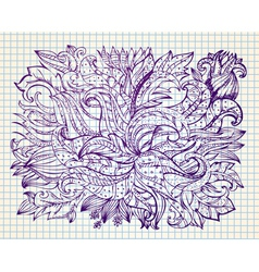 abstract drawing by hand vector image