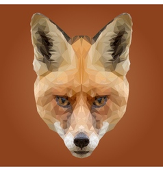 Abstract Low Poly Fox Design vector