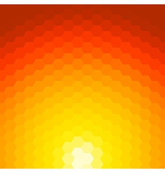 Abstract sunset background made of geometric vector