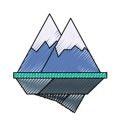 alps mountains icon vector image