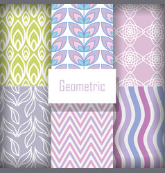 background geometric floral decorative vector image
