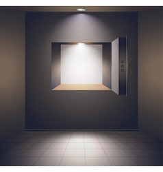 Bank room with safe vector