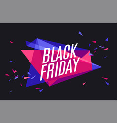 banner with text black friday vector image