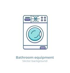 Bath equipment colorful concept vector
