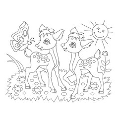 Black and white page for baby coloring book vector