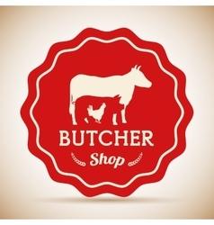 Butchery or butcher theme vector