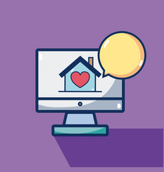 Buy online real estate vector