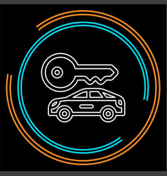 car rentals label logo icon emblem vector image