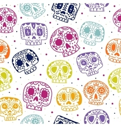 Cartoon flat day of the dead seamless vector