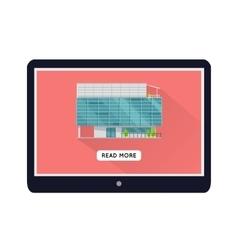 Commercial Building Web Design Template vector