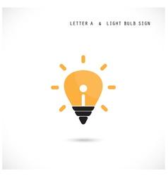 Creative letter A icon abstract logo design vector image