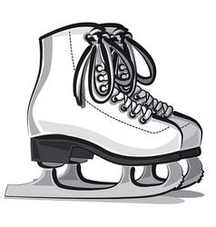 figure skates vector image