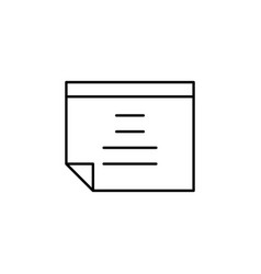file note text outline icon signs and symbols can vector image