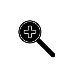 find magnifying glass search zoom icon signs and vector image