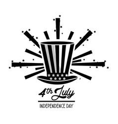 Flag hat celebration independence day vector