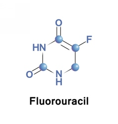 Fluorouracil is a medication for cancer vector