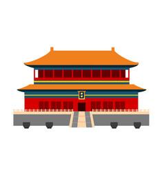 Forbidden city in beijing china vector