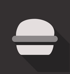 Hamburger icon in flat style with long shadow vector