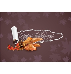 Happy thanksgiving day with torn paper vector
