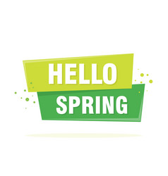 hello spring lettering design in green vector image