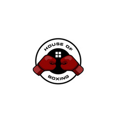 house boxing logo vector image