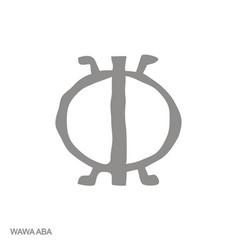 Icon with adinkra symbol wawa aba vector