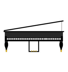 isolated piano icon musical instrument vector image