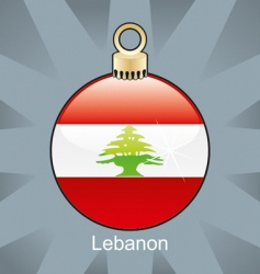 Lebanon flag on bulb vector image