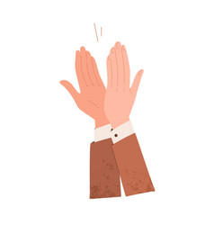 Male hands applauding expressing respect vector
