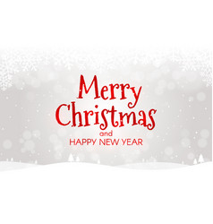 merry christmas concept happy new year card xmas vector image
