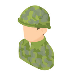 military man icon isometric 3d style vector image