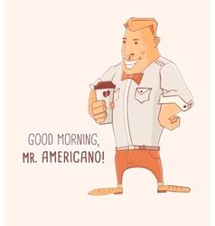 Mister Caffe Americano vector