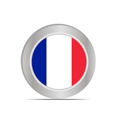 National flag france is isolated vector
