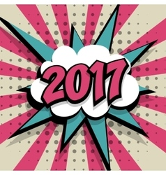 New year 2017 pink background vector
